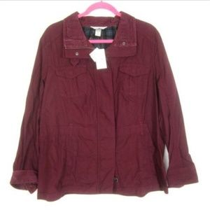 Christopher & Banks XL Burgundy Light Jacket NEW